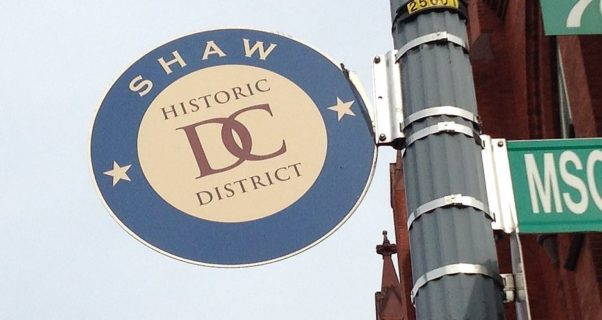 Shaw Histroic District DC street sign. (Photo: Third Baptist Church)