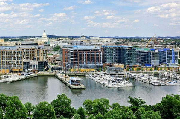 Ariel view of The Wharf from West Potomac Park. (Photo: The Wharf)