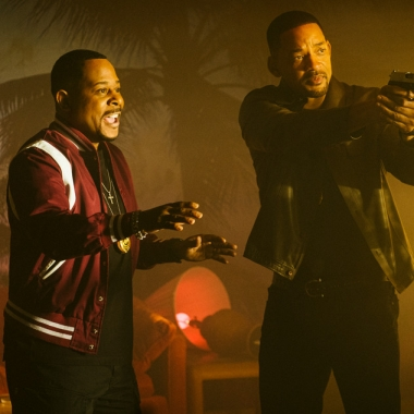 Martin Lawrence (left) and Will Smith, who has his gun drawn, in Bad Boys for Life. (Photo: Sony Pictures)