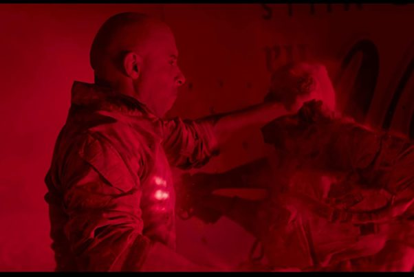 Ray Garrison (Vin Diesel) fights with a glow coming from his chest. (Photo: Sony Pictures)