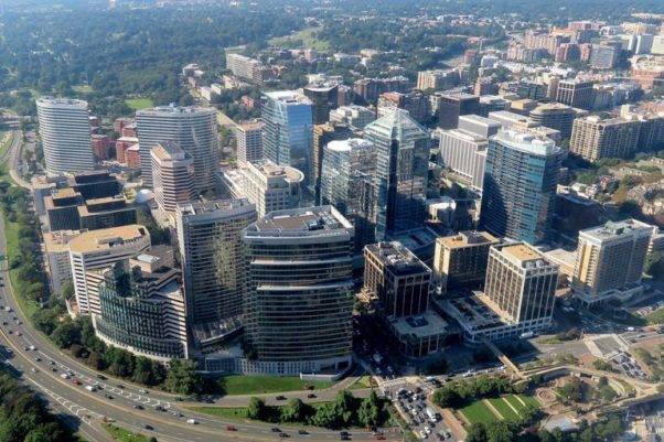 Arial view of Rosslyn, Va. (Photo: Pi1415926535/Wikimedia)