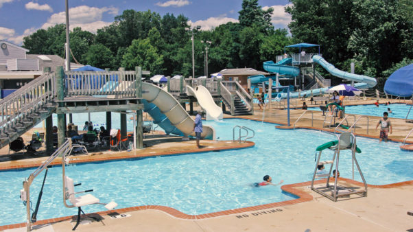 Swimmers at the Sergeant Hector I. Ayala Wheaton/Glenmont Outdoor Pool in Wheaton. (Photo: Montgomery County Recreation)