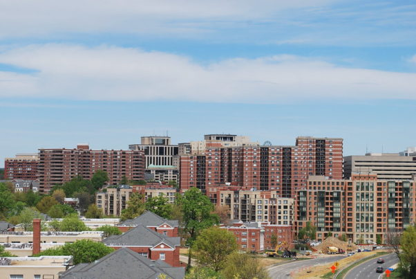 Skyline photo of Clarendon apartments on April 13, 2013. (Photo: 2201 Pershing/Flickr)
