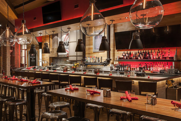 The bar and lounge at Lena's Woodfired Pizza & Tap in Alexandria. (Photo: Lena's Woodfired Pizza & Tap)