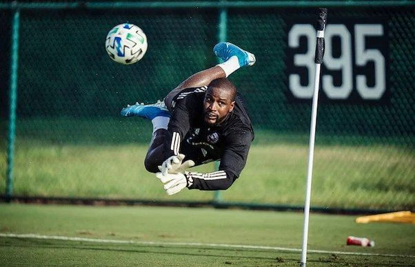D.C. United goalkeeper Bill Hamid bloks a shot during practice in Orlando. (Photo: Xavier Dussaq/D.C. United)