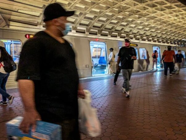 "Riders exit at train at Metro Center last week. (Photo: Bill O""Leary/Washington Post)"