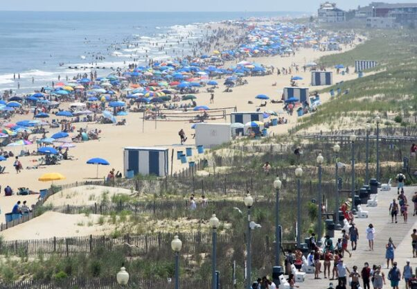 Rehoboth Beach from atop the Atlantic Hotel on June 27, 2020. (Photo: Chuck Snyder)