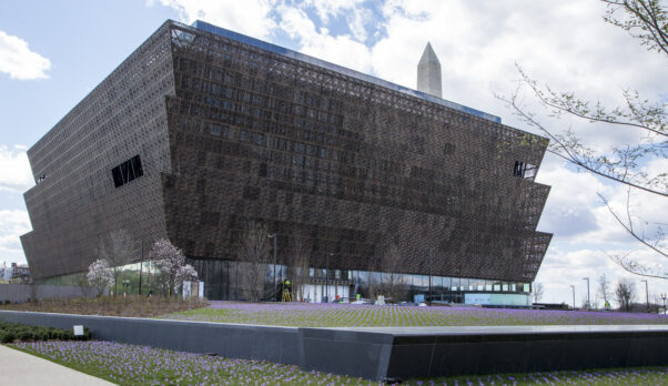 Exterior photo of the National Museum of African American History and Culture taken in March 2016. (Photo: Michael Barnes/Smithsonian Institution)