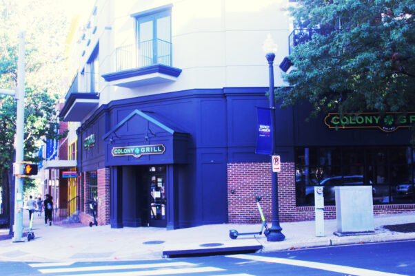 The exterior of Colony Grill in Clarendon. (Photo: Mark Heckathorn/DC on Heels)