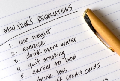 A handwritten list of New Year's Resolutions. (Photo: Catherine Jones/iStock)