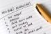 A handwritten list of New Year's Resolutions. (Photo: Catherine Jones/iStock)