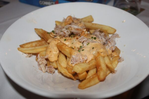 Crab fries with Old Bay and rosemary aioli. (Photo: Mark Heckathorn/DC on Heels)