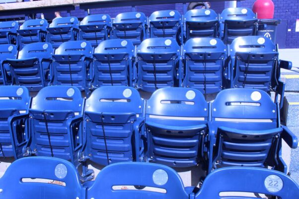 Seats at Nationals Park with some zip-tied closed. (Photo: Mark Heckathorn/DC on Heels)
