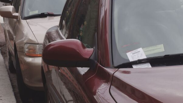 A car with a parking ticket under the windshield wiper. (Photo: WUSA)