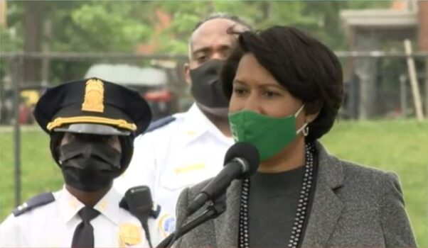 Mayor Muriel Bowser at a press conference on May 3, 2021. (Photo: Screen Capture)