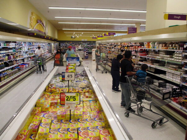 Shoppers wear masks at the Giant Food store in Silver Spring on Aug. 16, 2020. (Photo: Alex Frazier/Flickr)