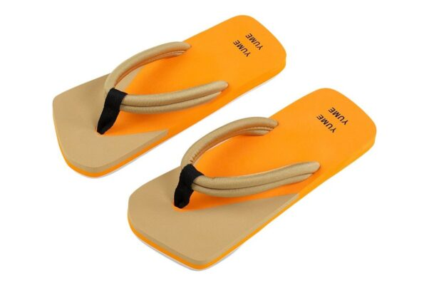 brown and orange flip flops (Photo: Contributed)