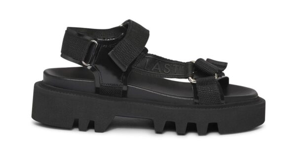 black chunky strap-on sandles (Photo: Contributed)