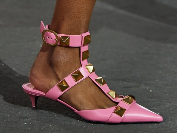 studded pink flats with an ankle strap (Photo: Contributed)