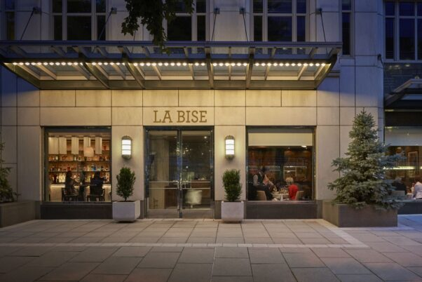 Exterior view of Le Bise. (Photo: Greg Powers)