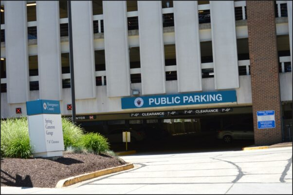 Outside of the Cameron Street parking garage in Silver Spring. (Photo: Montgomery County Department of Transportation)