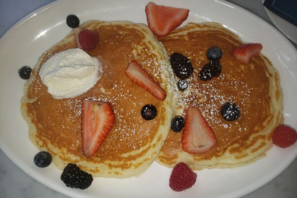 Pancakes with mixed berries (Photo: Mark Heckathorn/DC on Heels)