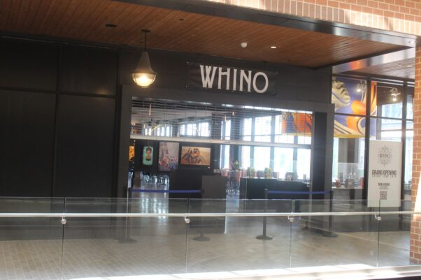 The mall enterance to Whino in the Ballston Quaret mall. (Photo: Mark Heckathorn/DC on Heels)
