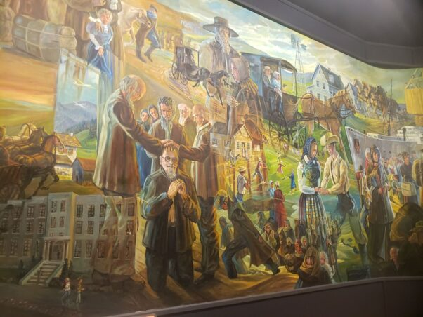 A section of the Behalt painting showing modern day Amish. (Photo: Mark Heckathorn/DC on Heels)