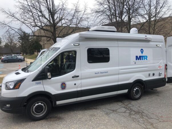 The Prince George's County Health Deapartment's mobile health unit van. (Photo; WJLA)